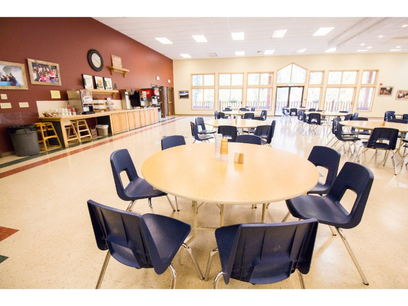 Dining Hall with coffee and tea
